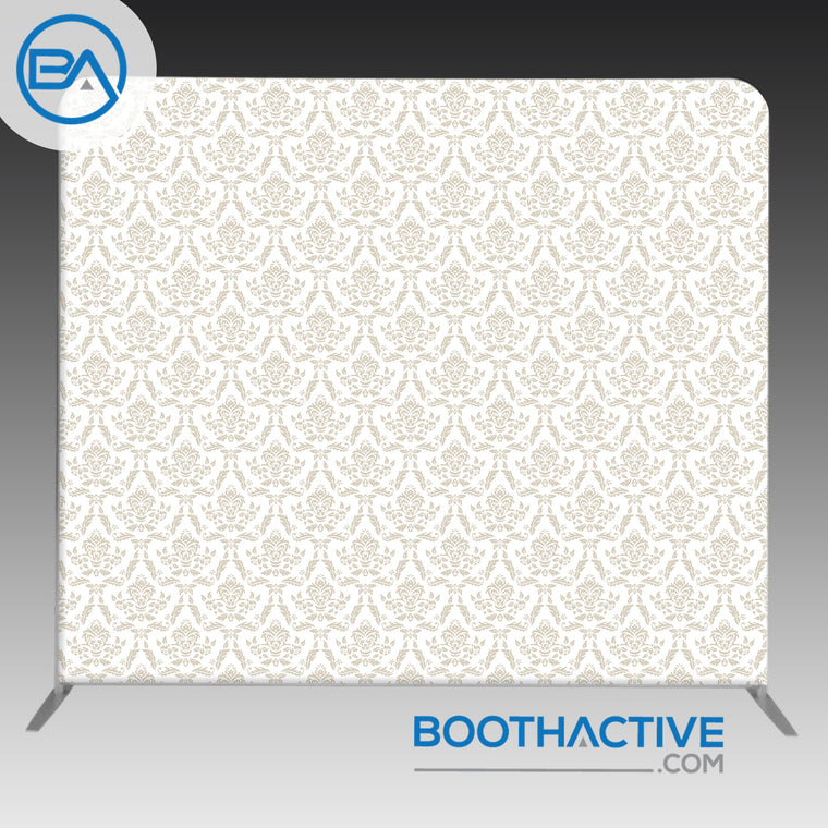 8' x 8' Backdrop - Damask - Beige