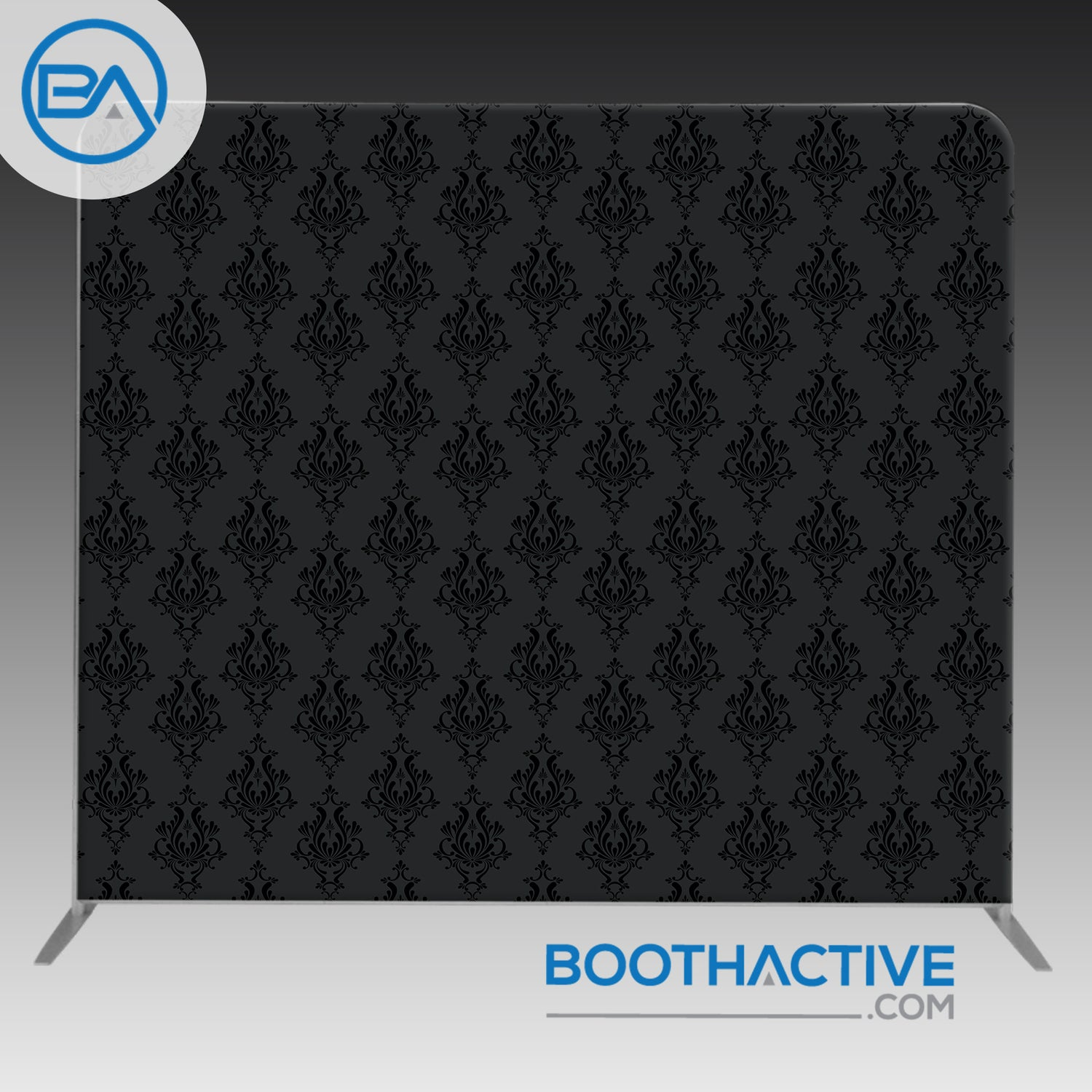 8' x 8' Backdrop - Damask - Dark - BoothActive