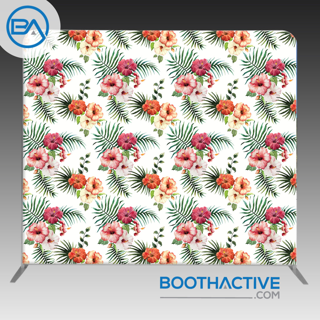 8' x 8' Backdrop - Flowers - Tropical