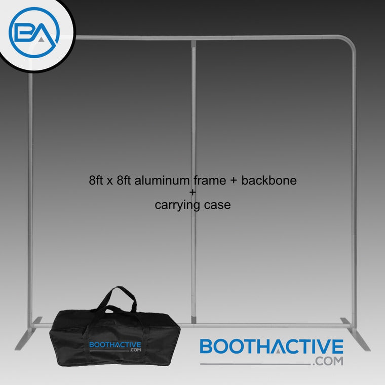 8' x 8' Backdrop Frame/stand + Support pole - Fat Base