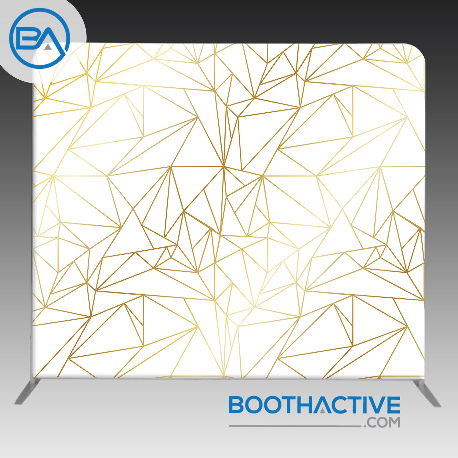 8' x 8' Backdrop - Geometric - Gold 3
