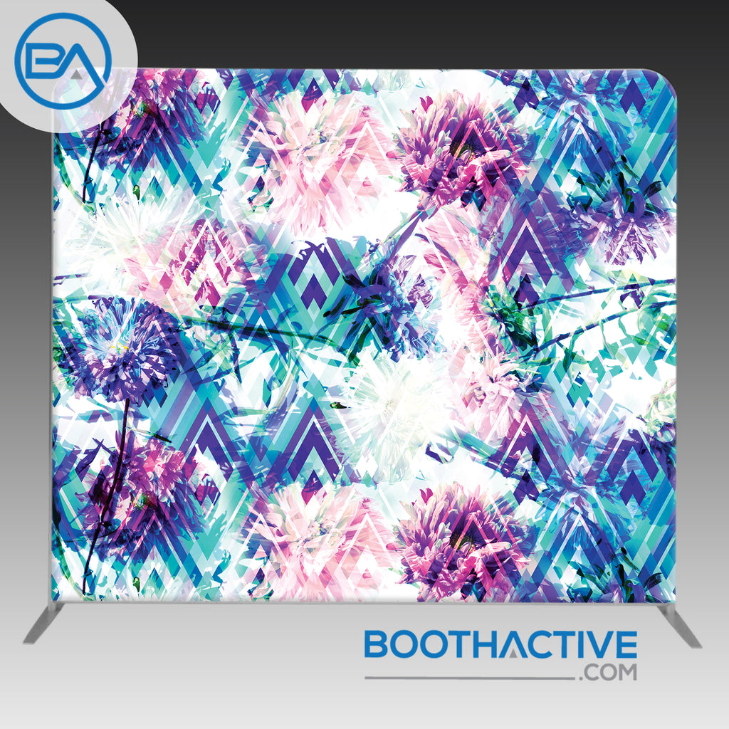 8' x 8' Backdrop - Geometric - Floral - BoothActive