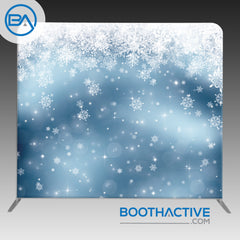 8' x 8' Backdrop - Holiday - Snow 2 - BoothActive