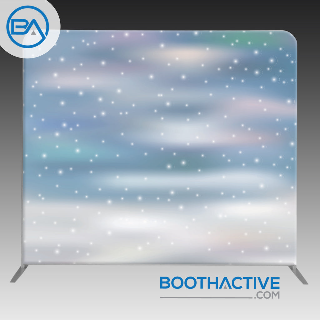 8' x 8' Backdrop - Holiday - Snow 3 - BoothActive