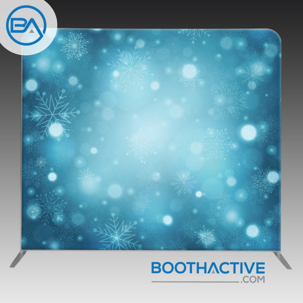 8' x 8' Backdrop - Holiday - Snow - BoothActive
