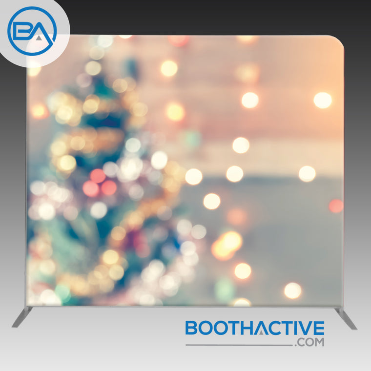 8' x 8' Backdrop - Holiday - Christmas Tree Bokeh