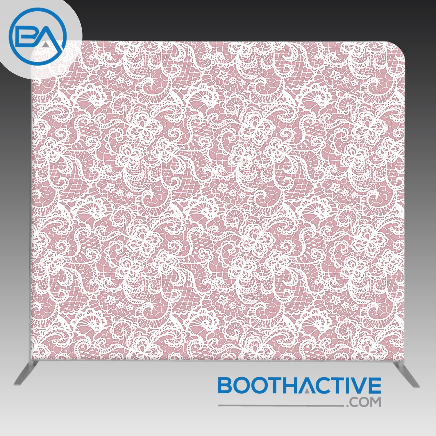 8' x 8' Backdrop - Lace - BoothActive