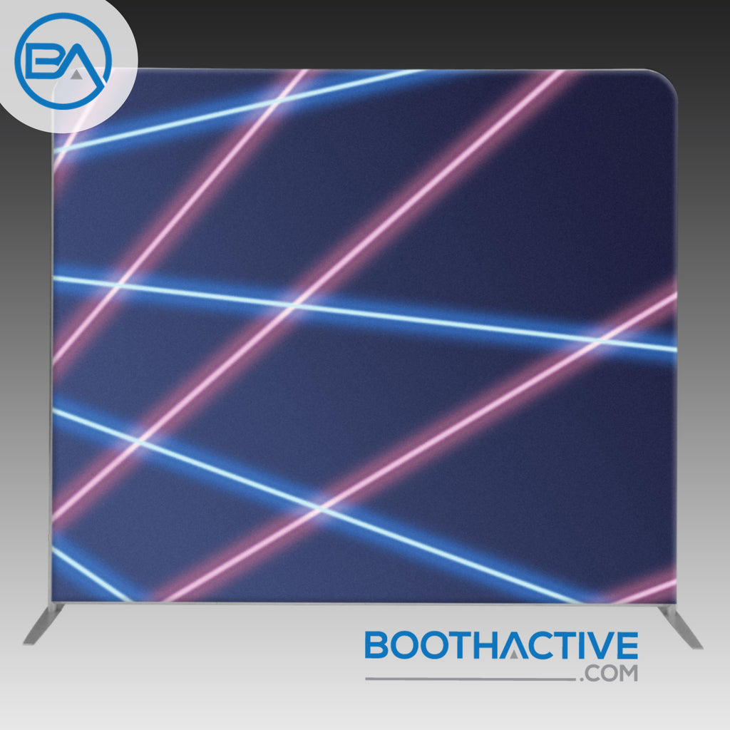 8' x 8' Backdrop - Lasers