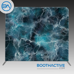 8' x 8' Backdrop - Marble - Blue - BoothActive
