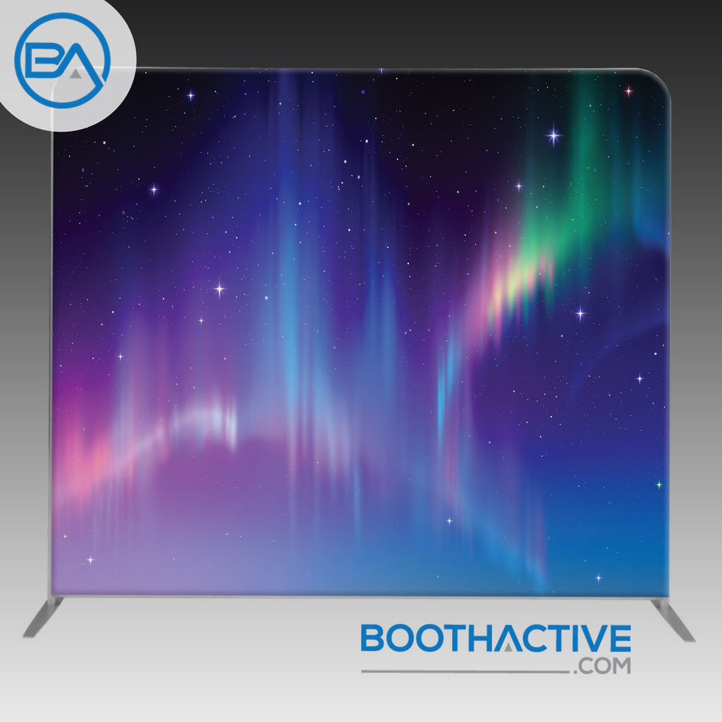 8' x 8' Backdrop - Northern Lights - BoothActive