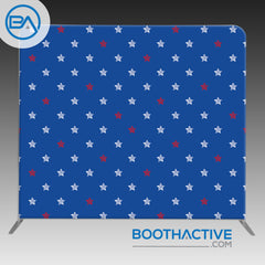 8' x 8' Backdrop - Patriotic - BoothActive