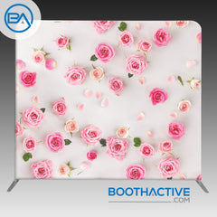 8' x 8' Backdrop - Flowers - Pink Roses