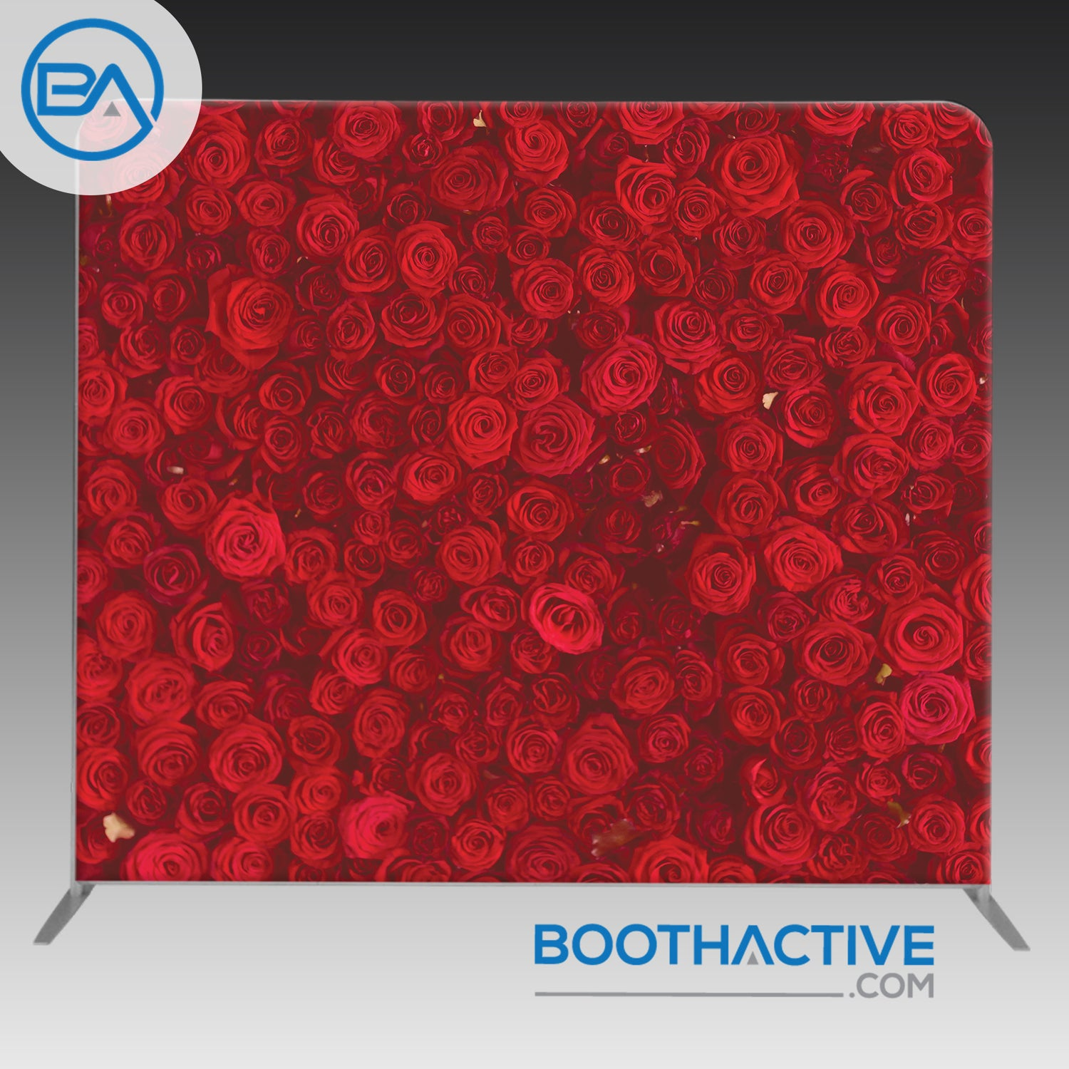 8' x 8' Backdrop - Red Roses