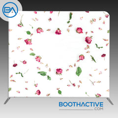 8' x 8' Backdrop - Flowers - Rose Heart