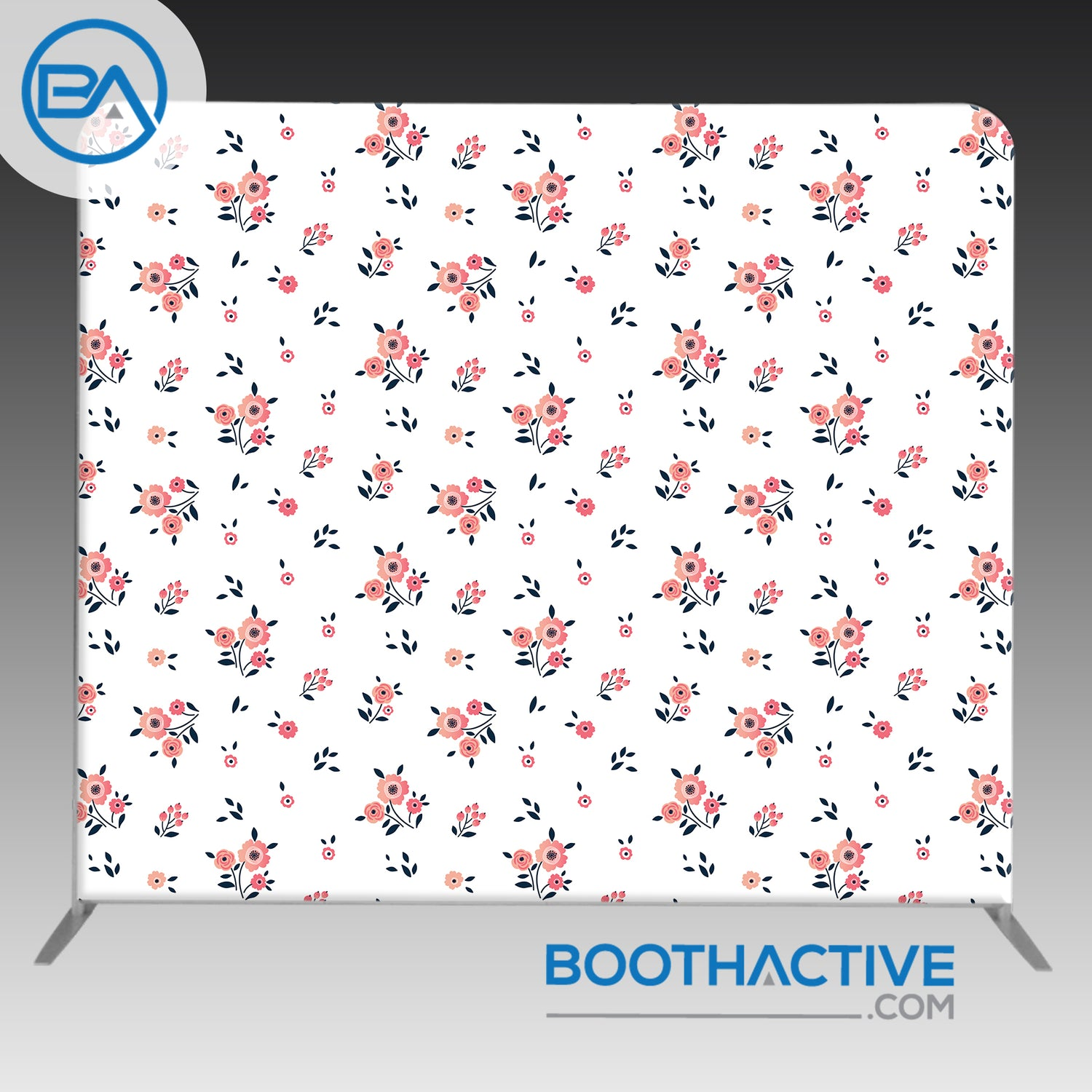 8' x 8' Backdrop - Flowers - Small Flowers - BoothActive