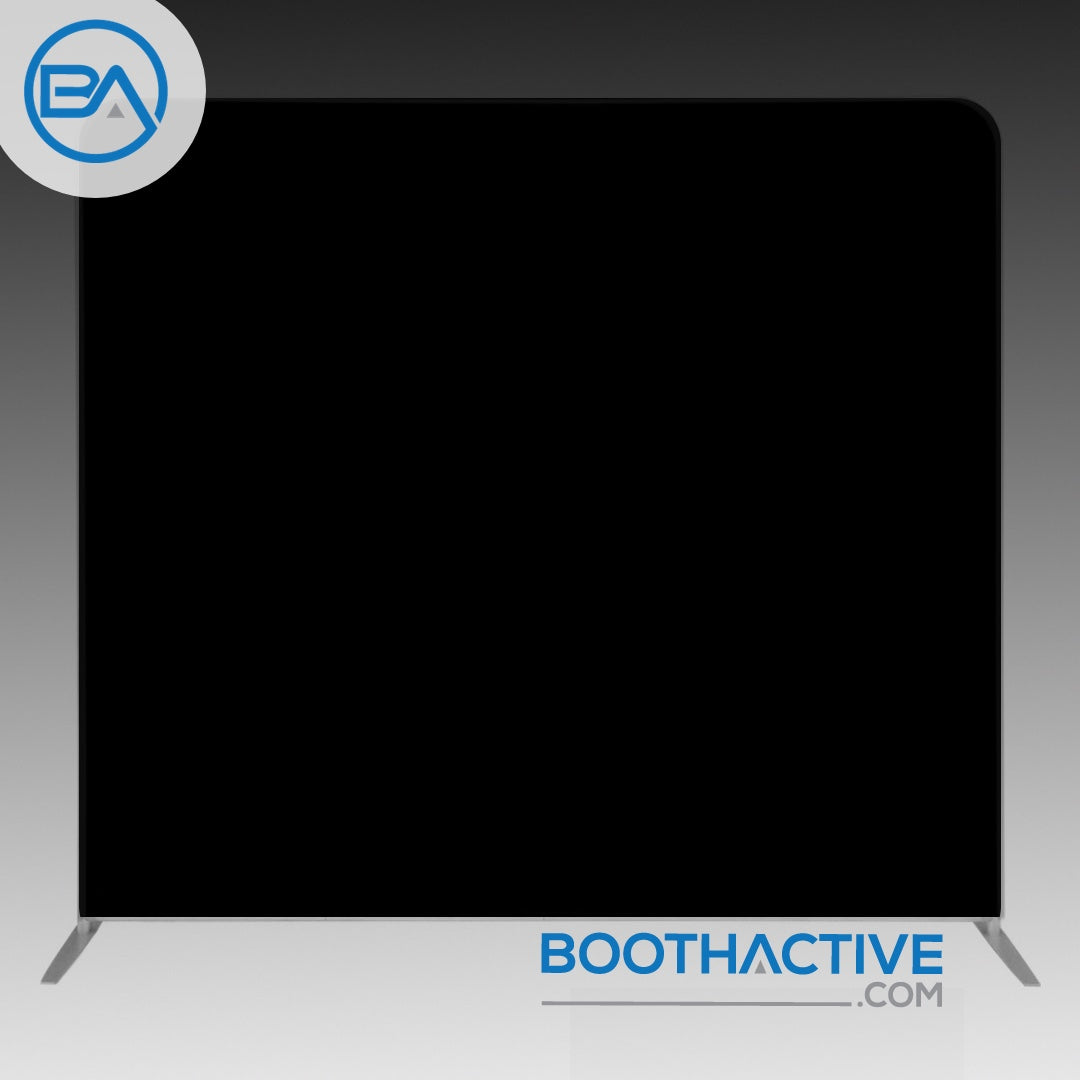 8' x 8' Backdrop - Solid - Black - BoothActive