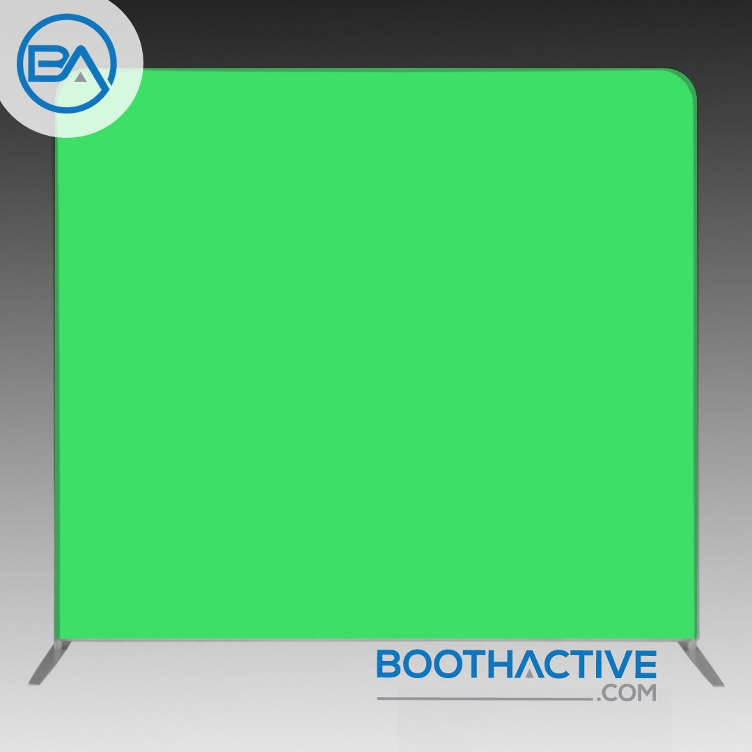 8' x 8' Backdrop - Solid - Chroma Key Green - BoothActive