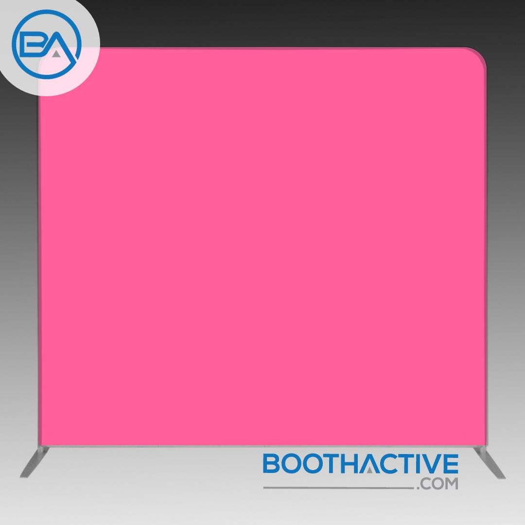 8' x 8' Backdrop - Solid - Pink - BoothActive