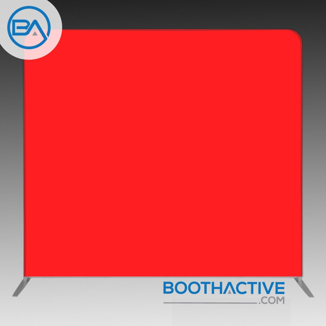 8' x 8' Backdrop - Solid - Red - BoothActive