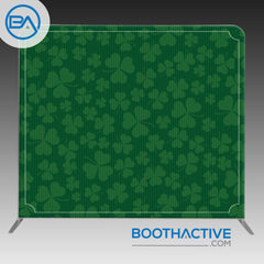 8' x 8' Backdrop - St. Patrick's Day - Vintage Clovers