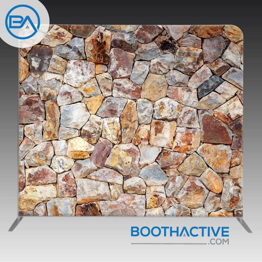 8' x 8' Backdrop - Stone Wall - BoothActive