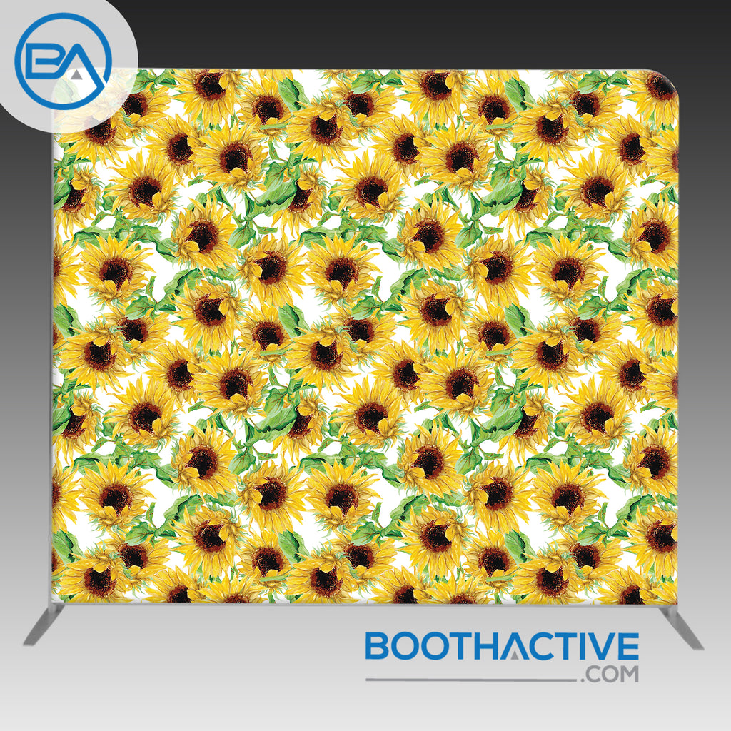 8' x 8' Backdrop - Flowers - Sunflowers - BoothActive