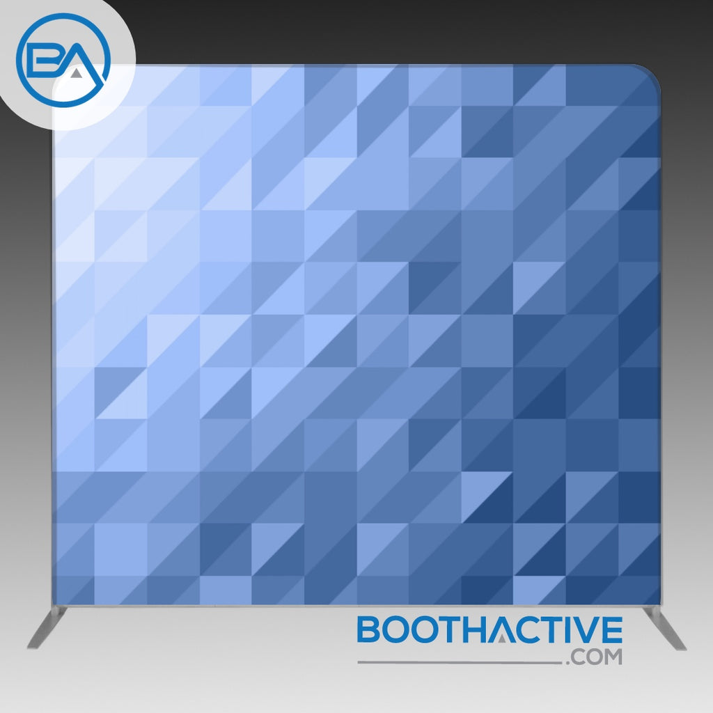 8' x 8' Backdrop - Triangles - Blue - BoothActive