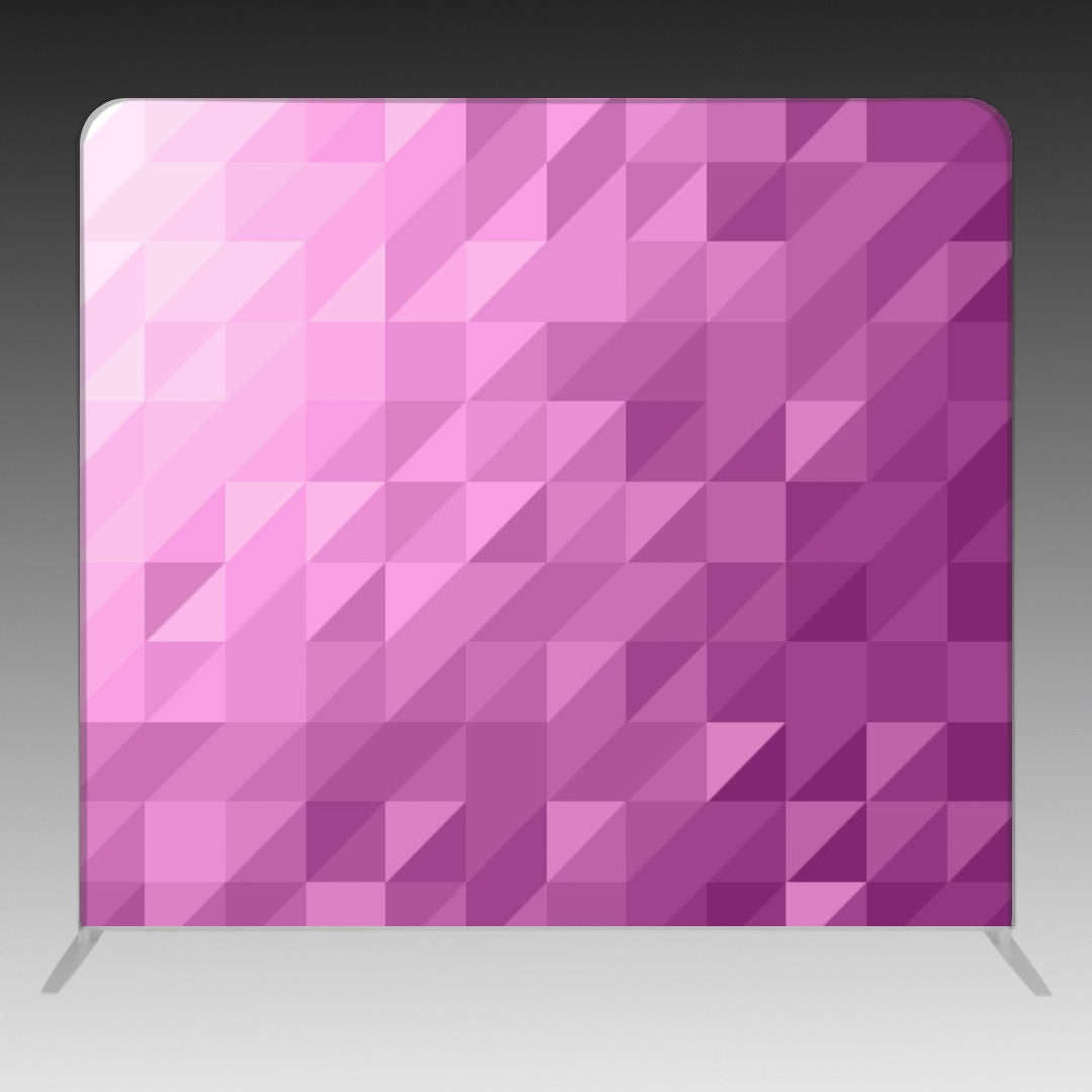 8' x 8' Backdrop - Triangles - Purple - BoothActive