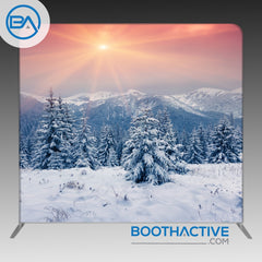 8' x 8' Backdrop - Holiday - Winter Sunset - BoothActive
