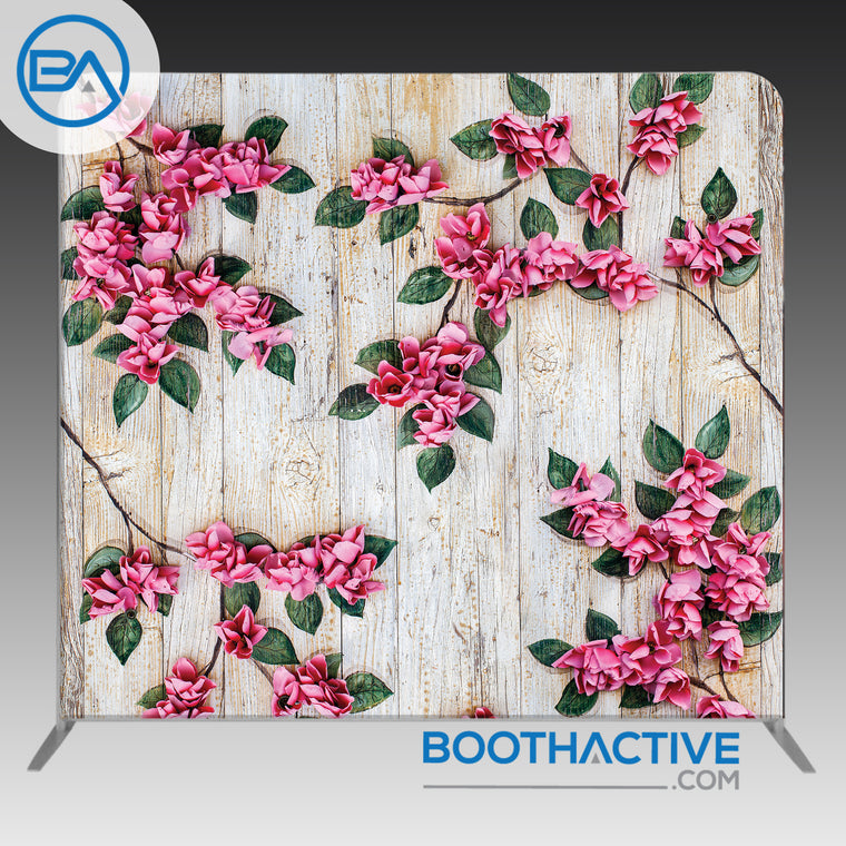 8' x 8' Backdrop - Flowers - Wood