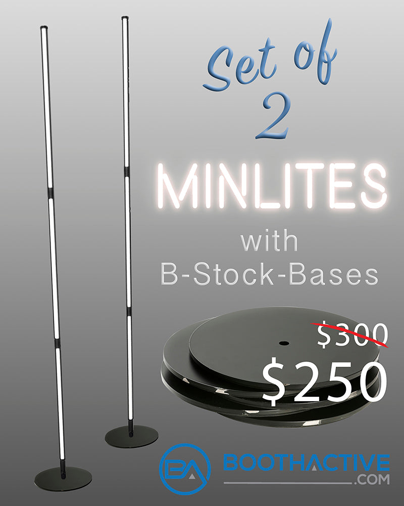 Minlites - Set of 2, with B-Stock-Bases Sale!