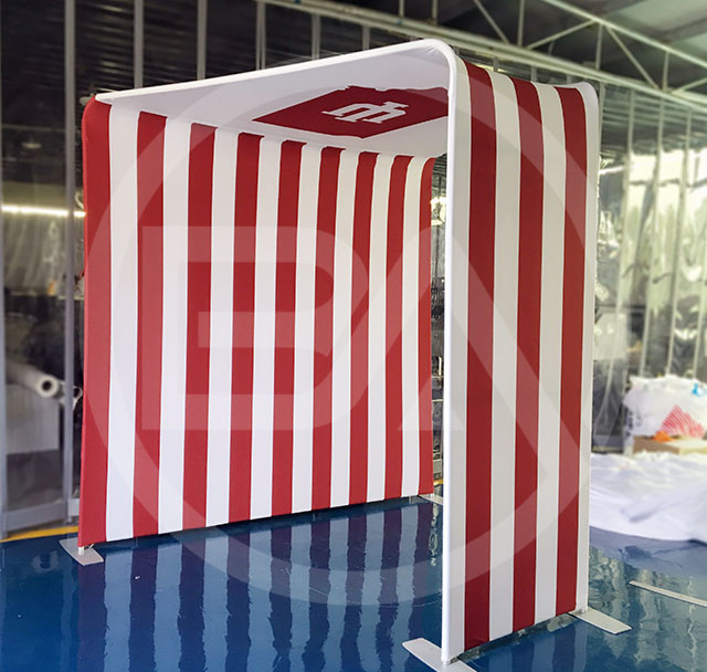 Fabric Booth Enclosure - The Stadium