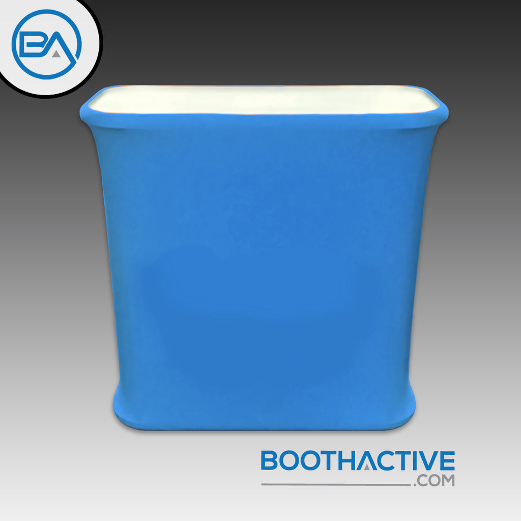 Rectangle Table with Custom Tension fabric - BoothActive