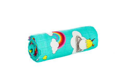 Under the Rainbows - Tula Cuddle Me Blanket