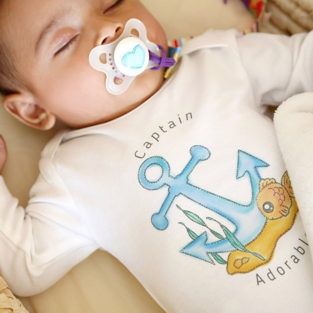 Organic Coming Home Baby Gift Basket Baby Boy Anchor Captain Adorable Theme