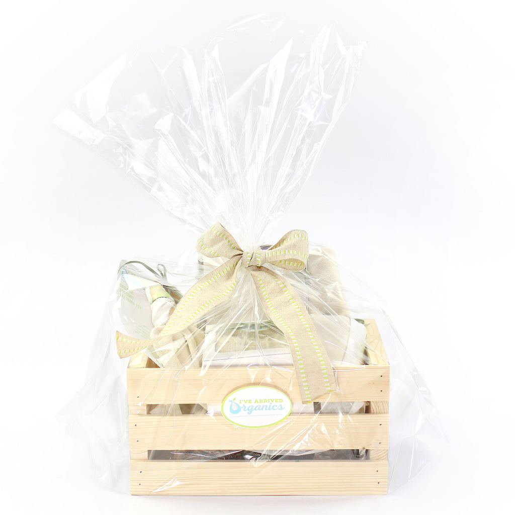 Organic Coming Home Baby Gift Basket Baby Gender Neutral Sweet Pea Theme
