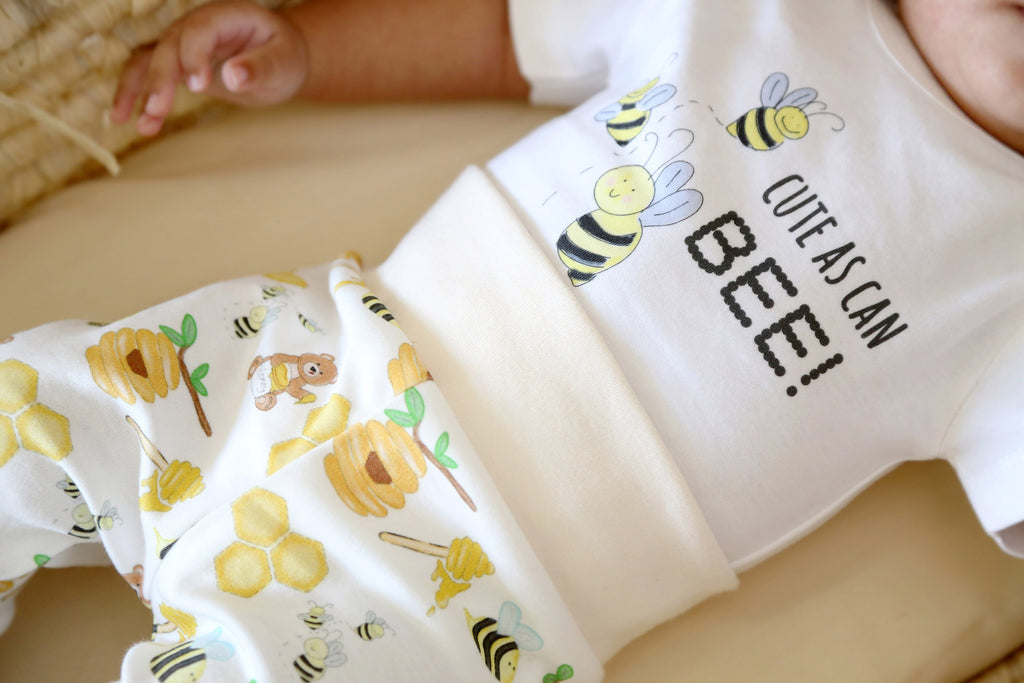 Organic Coming Home Baby Gift Basket Baby Gender Neutral Honey Bees Sweet As Can Bee Theme
