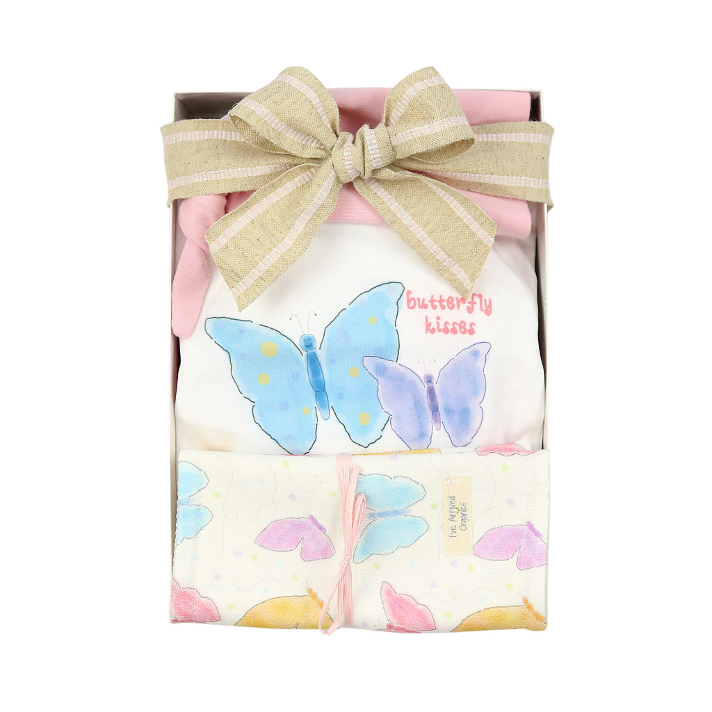 Organic Coming Home Baby Gift Box Baby Girl Butterfly Theme