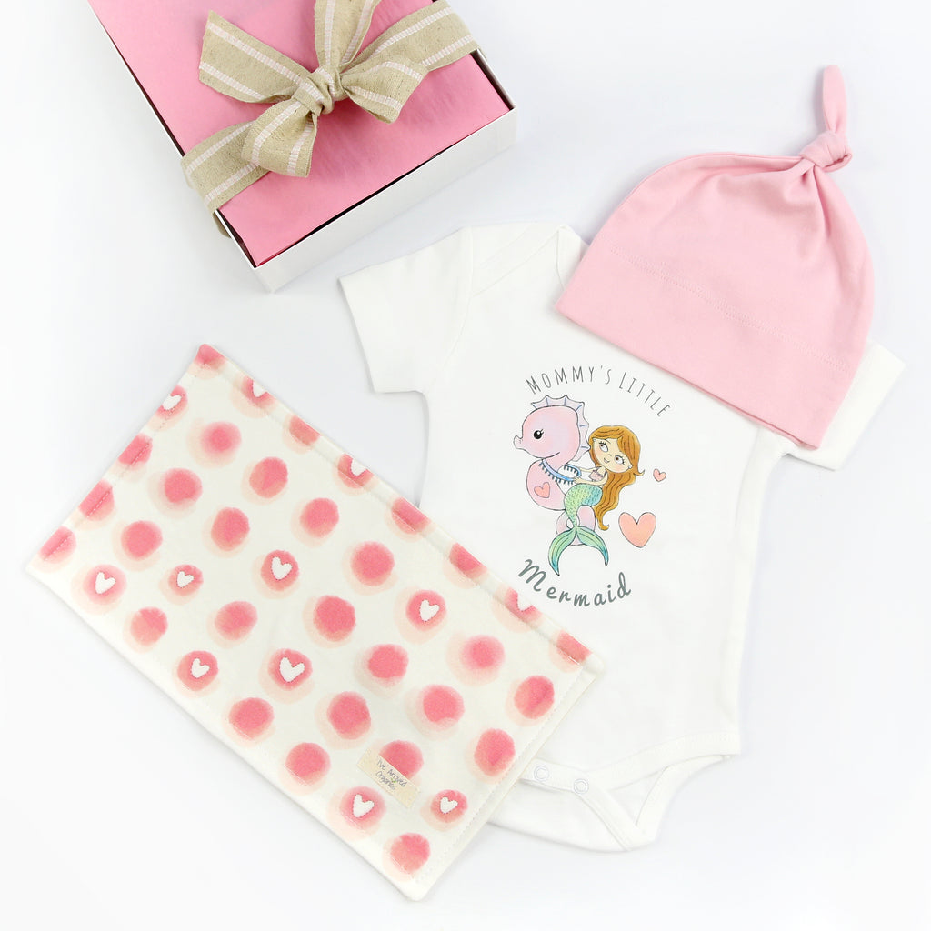 Organic Coming Home Baby Gift Box Baby Girl Mermaid Theme