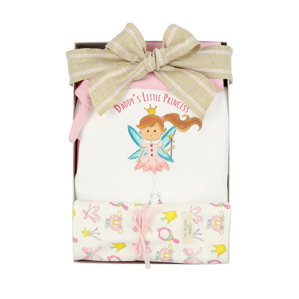 Organic Coming Home Baby Gift Box Baby Girl Princess Theme