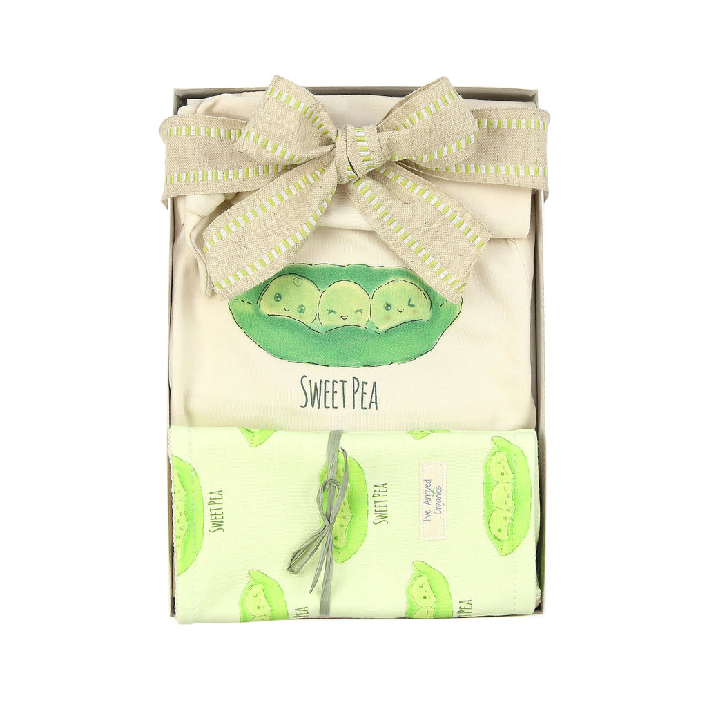 Organic Coming Home Baby Gift Box Baby Gender Neutral Sweet Pea Theme