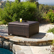 Fedor Wicker Brown Indoor/Outdoor Storage Ottoman