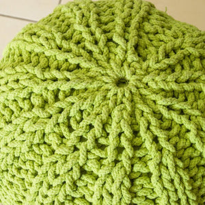 Reiki Artisan Knitted Accent Pouf