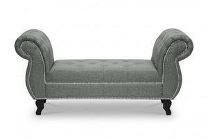 Norwich Gray Linen Bench