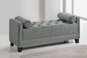 Hirst Gray Bedroom Linen Bench