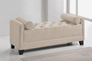 Hirst Light Beige Bedroom Linen Bench