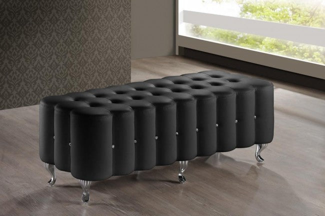 Constellations Black Modern Tufted Bench