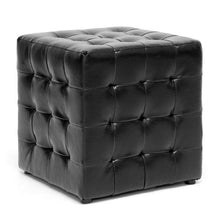 Faline Black Modern Cube Ottoman (Set of 2)