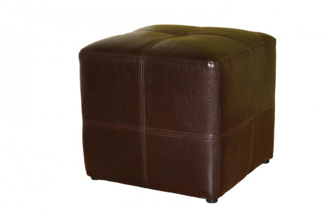 Roch Cube Leather Ottoman