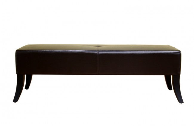 Karsten Dark Brown Leather Bench